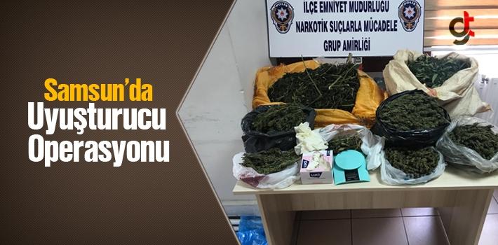 Samsun'da Uyuşturucu Operasyonu, Evinde 6 Kilo Kubar Esrar Çıktı