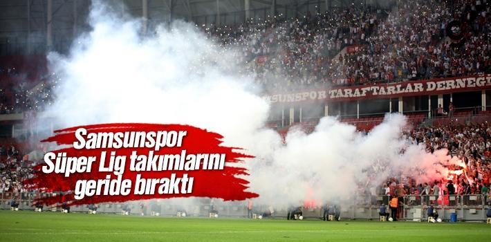 Samsunspor, Süper Lig Takımlarını Geride Bıraktı