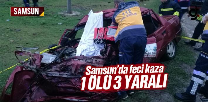Samsun'un Çarşamba'da Kamyonet ile Otomobil Çarpıştı 1 Ölü 3 Yaralı