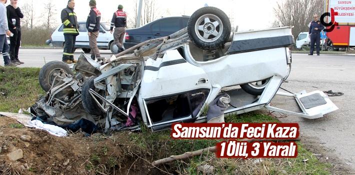 Samsun'un Terme İlçesinde Trafik Kazası 1 Ölü, 3 Yaralı
