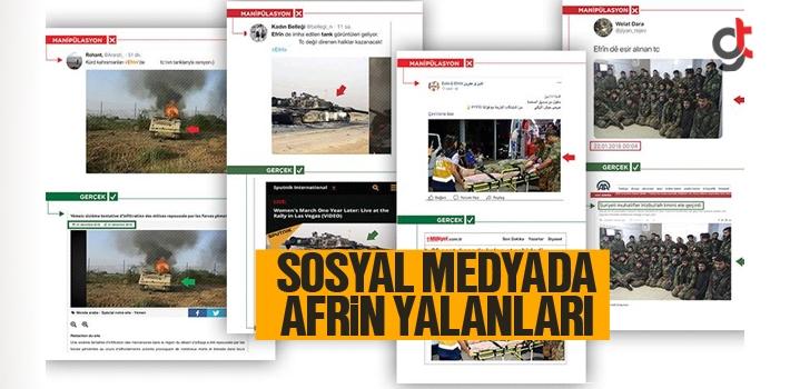 Sosyal Medyada PKK'nın Uydurduğu Afrin Yalanları