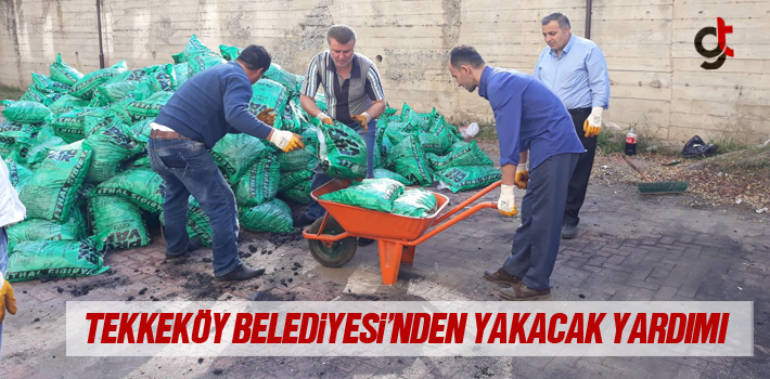 Tekkeköy Belediyesi'nden Yakacak Yardımı