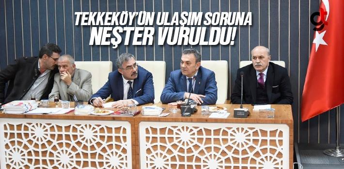 Tekkeköy'ün Ulaşım Sorununa Neşter Vuruldu