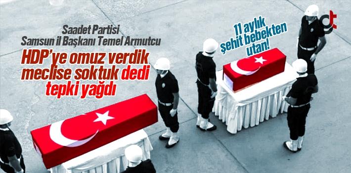 Temel Armutcu'nun HDP'ye Omuz Verdik Paylaşımına Tepki Yağdı