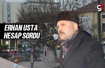 Erhan Usta, Cumhuriyet Meydanı'nda Miting Yaptı