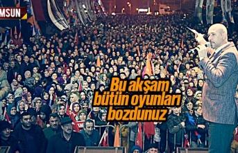 Hasan Togar, 'Bu Akşam Bütün Oyunları Bozdunuz'