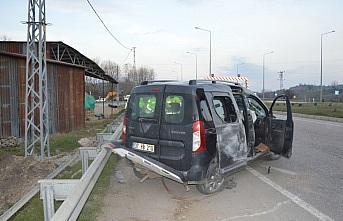Havza'da trafik kazası: 2 yaralı
