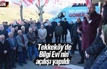 Tekkeköy'de Bilgi Evi Açılışı Yapıldı