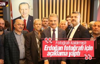 Cemil Deveci'den Cumhurbaşkanı Erdoğan Fotoğrafı...