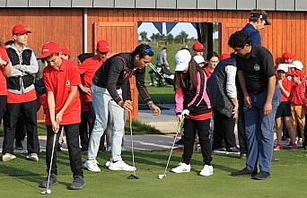 Golfün yıldızları, Samsun'da çocuklarla...