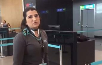 Hakarete uğrayan havalimanı çalışanı şikayetçi...