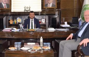 Rektör Mahmut Aydın'dan, Başkan Halit Doğan'a...