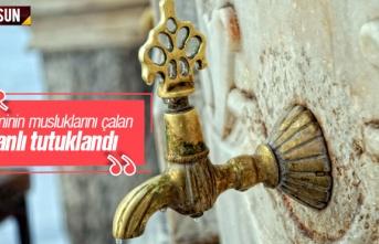 Samsun'da Caminin Musluklarını Çalan Zanlı...