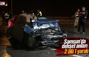 Samsun'da Feci Kazada 2 Kişi Öldü 1 Kişi...