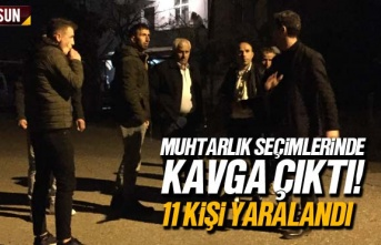 Samsun'da Muhtarlık Seçimlerinde Çıkan Kavgada...