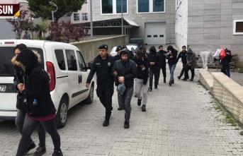 Samsun'da Uyuşturucu Satıcılarına Operasyon  13 Gözaltı