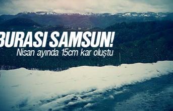 Samsun'da Kar Kalınlığı 15 Cm'ye Yükseldi
