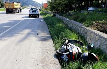 Samsun'da otomobil ve motosiklet çarpıştı: 1 yaralı