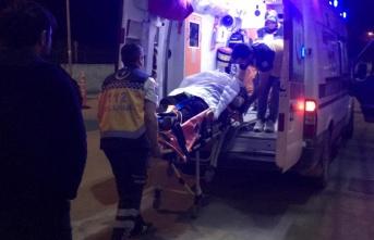 Samsun'da devrilen kamyonetin sürücüsü yaralandı