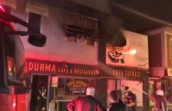 Bafra'da iş yeri yangını