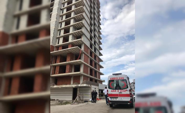 Giresun'da inşaattan düşen işçi öldü
