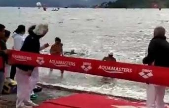 Milli yüzücü Tolga Öcal'ın, Ukraynalı Irina...