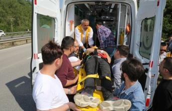 Ordu'da otomobil menfeze düştü: 2 yaralı