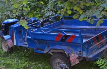 Ordu'da tarım aracı devrildi: 1 ölü, 2 yaralı