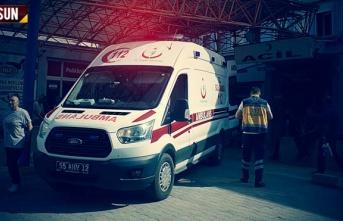 Samsun'da otomobil ile motosiklet kaza yaptı...