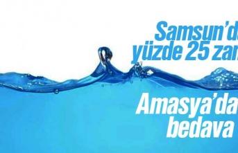 Samsun'da yüzde 25 Zam, Amasya'da Bedava