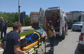 Samsun'da otomobille tır çarpıştı: 1 yaralı