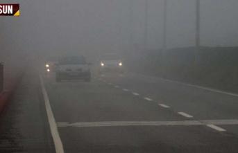 Samsun'da yoğun sis ve hava durumu