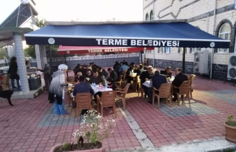 Terme'de iftar çadırı kuruldu