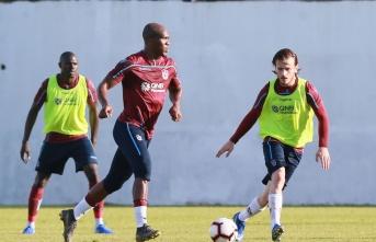 Trabzonspor, Beşiktaş maçı hazırlıklarını sürdürdü