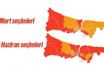 """31 Mart'ta AK Parti'nin önde olduğu 12 ilçe 23 Haziran'da """"İmamoğlu"""" dedi"""
