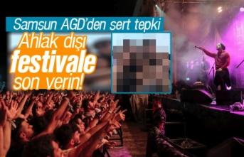 Ahlak dışı Samsun Gençlik Festivali'ne son...