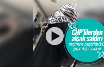 Ataköy'de CHP'lilerden alçak saldırı, başörtüsünü çıkar diye saldırdı video haber