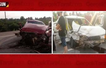 Çarşamba'da iki otomobil kaza yaptı, 3 yaralı