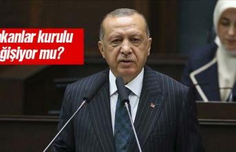 Cumhurbaşkanı Erdoğan'dan kabine değişikliği...
