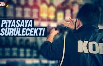 Samsun'da kaçak içki ve sigara operasyonunda...