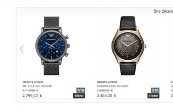 Armani Saat ve Çeşitleri