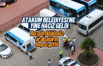 CHP'li Atakum Belediyesi'nin araçlarına...
