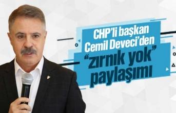 CHP'li Başkan Cemil Deveci'den ilginç paylaşım