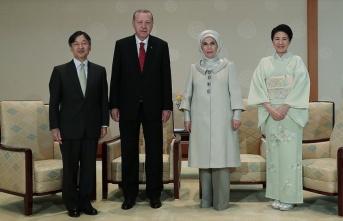 Cumhurbaşkanı Erdoğan Japon İmparatoru Naruhito...