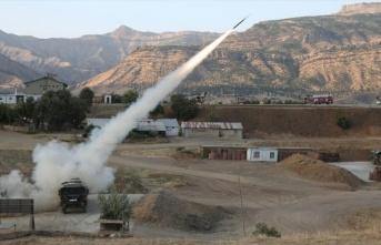 Pençe-2 Operasyonu'nda PKK hedefleri ateş altında