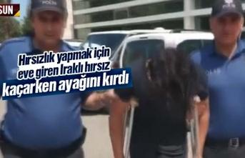 Samsun'da hırsızlık yapmak için eve giren...