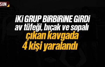 Samsun'da iki grup birbirine girdi 4 yaralı
