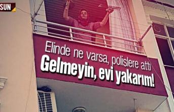 Samsun'da sinir krizi geçiren kadın evi yakmaya kalktı
