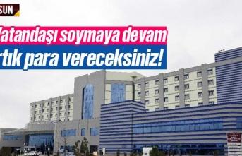 Samsun Eğitim Araştırma Hastanesi otopark ücretli...