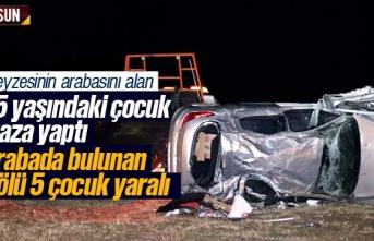 Teyzesinin arabasını alan çocuk kaza yaptı 1 ölü...